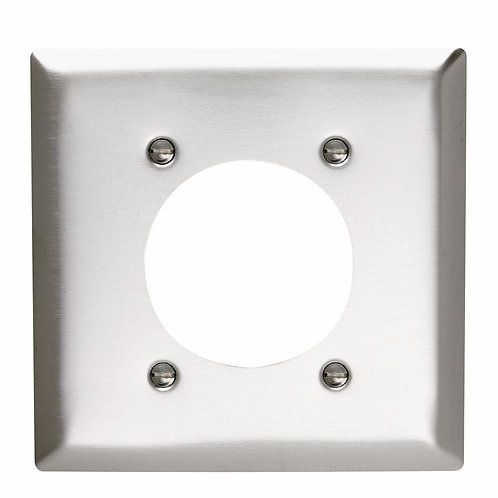 Legrand Pass & Seymour 2-Gang 1 Power Outlet Wall Plate - Stainless Steel