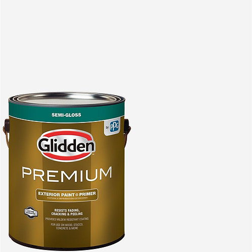 Glidden Premium 1 gal. Semi-Gloss Latex Exterior Paint