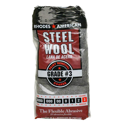 #3 12 Pad Steel Wool, Coarse Grade