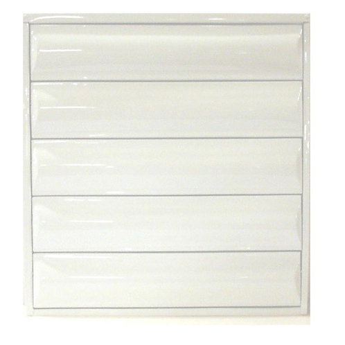 24 in. x 25.125 in. Titan Light Duty All Louver Awning Aluminum Window in White