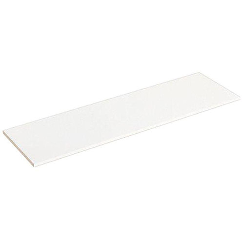 Selectives 48 in. White Laminate Wall Mounted Shelf