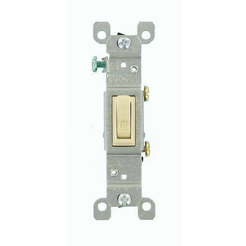 15 Amp Single-Pole Toggle Switch, Ivory