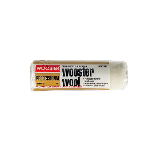 Wooster 9 in. x 3/8 in. High Density Wooster Wool Roller Cover
