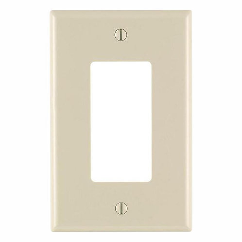 Leviton White 3-Gang 2-Toggle/1-Duplex Wall Plate (1-Pack)