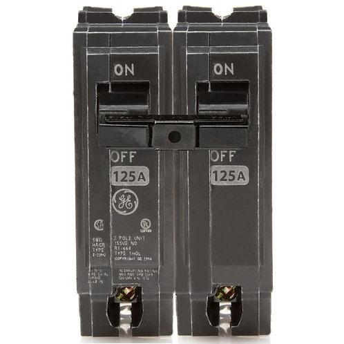 GE 125 Amp 2 in. Double-Pole Circuit Breaker