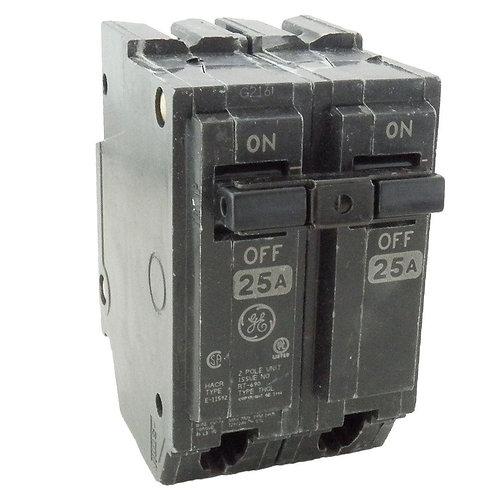 GE 25 Amp 2 in. Double-Pole Circuit Breaker