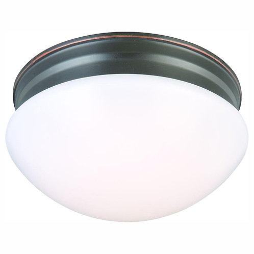 9 in. 60-Watt Equivalent Oil-Rubbed Bronze Integrated LED Mushroom Flush Mount w