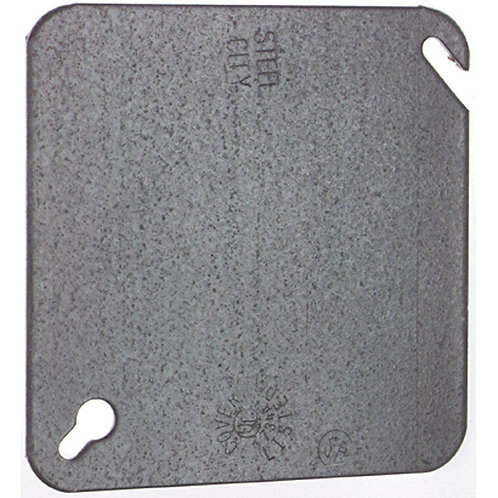 Steel City 4 in. Square Metal Electrical Box Flat Cover