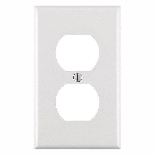 Leviton 1-Gang Duplex Outlet Wall Plate, White (10-Pack)