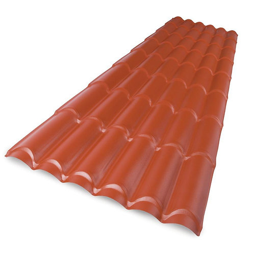 8 ft. Polycarbonate Spanish Tile Roof Panel