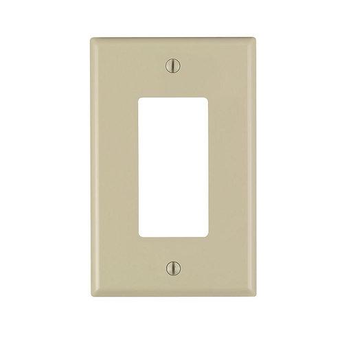 Leviton Decora 1-Gang Midway Nylon Decorator/Rocker Wall Plate - Ivory