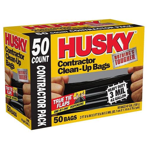 HUSKY 42G CONTRACTOR BAGS 50CT