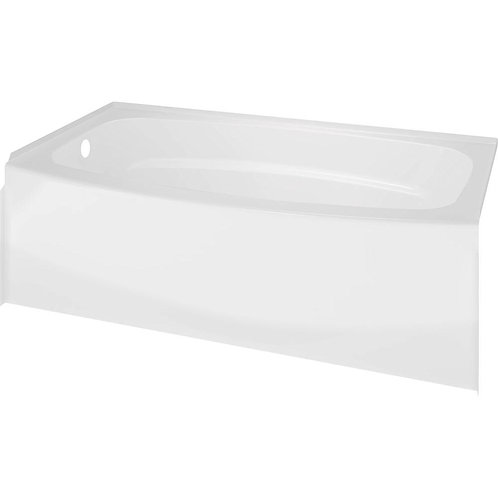 60 in. Left Drain Rectangular Alcove Bathtub