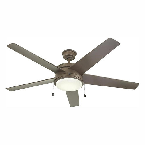 Portwood 60 in. LED Outdoor Espresso Bronze Ceiling Fan