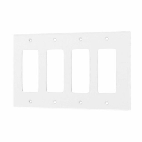 Leviton White 4-Gang Decorator/Rocker Wall Plate (1-Pack)