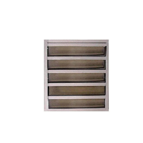 24 in. x 25.5 in. Master Guard Security Louver Awning Aluminum Window in White