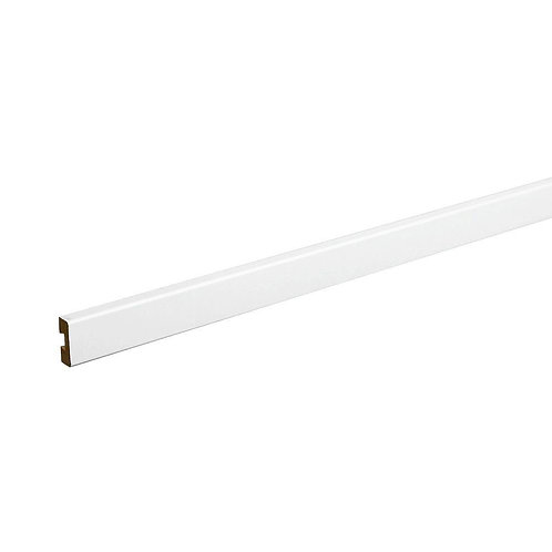 72 in. x 1.5 in. White Wood Front Shelf Trim
