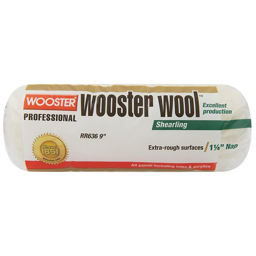 Wooster 9 in. x 1-1/4 in. High Density Wooster Wool Roller Cove