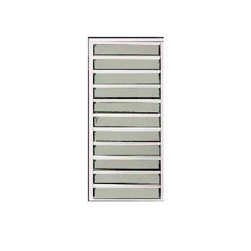 30 in. x 58.75 in. Master Guard Security Louver Awning Aluminum Window in White