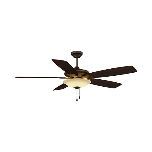 Menage 52 in. Integrated LED Indoor Low Profile Oil Rubbed Bronze Ceiling Fan