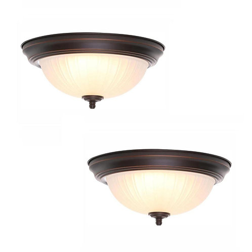 Commercial Electric 11 in. 100-Watt Equivalent Oil-Rubbed Bronze Integrated LED