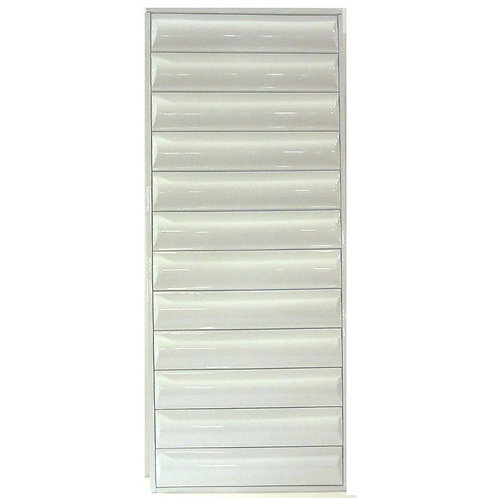 36 in. x 58.375 in. Titan Light Duty All Louver Awning Aluminum Window in White