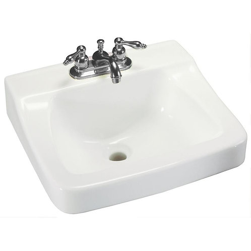 Glacier Bay Aragon Wall-Mounted Bathroom Sink in White