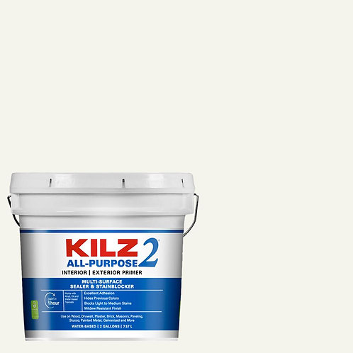 KILZ 2 ALL PURPOSE 2 Gal. White Interior/Exterior Multi-Surface Primer, Sealer,
