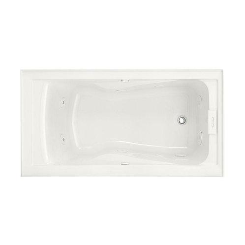 60 in. Acrylic Right Drain Rectangular Alcove Whirlpool Bathtub in White