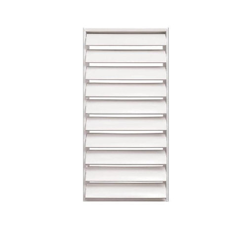 30 in. x 48.875 in. Titan Light Duty Louver Awning Aluminum Window in White