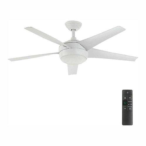 Windward IV 52 in. LED Indoor Matte White Ceiling Fan