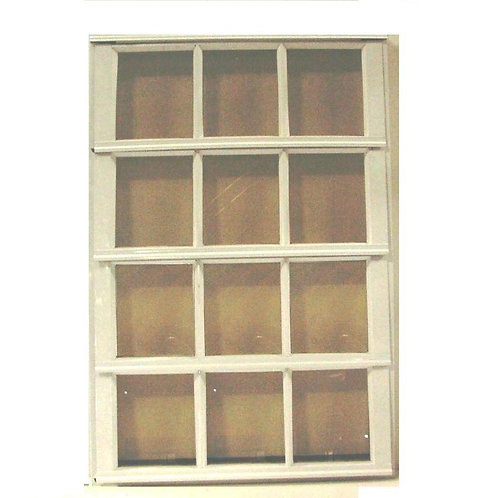 30 in. x 37.375 in. S-9 French Louver Awning Aluminum Window in White