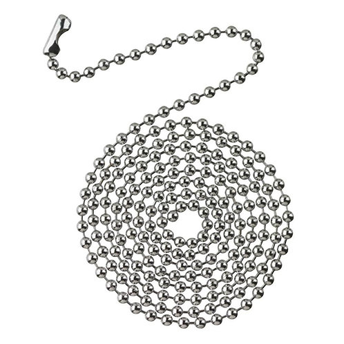 Commercial Electric 13 ft. Chrome Beaded Chain with Connector