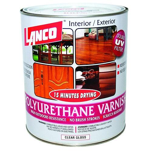 Lanco 15 Minutes 1 Qt. Clear Gloss Polyurethane Interior/Exterior Varnish