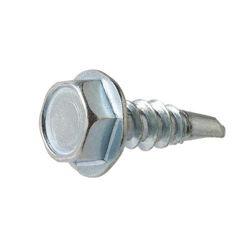 Everbilt #14 x 1-1/2 in. Hex Head Zinc Plated Sheet Metal Screw (25-Pack)