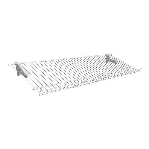 ShelfTrack 11.25 in. D x 36 in. W x 4 in. H 5-Pair Ventilated Wire Shoe Shelf St