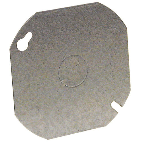 4 in. Octagon Flat Cover with 1/2 in. Knockout