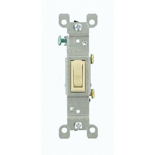 Leviton 15 Amp Single-Pole Toggle Switch, Ivory