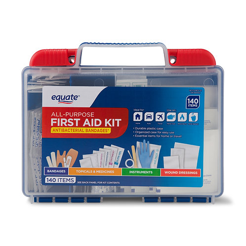 All-Purpose First Aid Kit, 140 Items