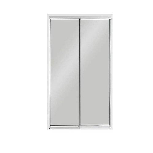 60 in. x 96 in. Aluminum White Sliding Door