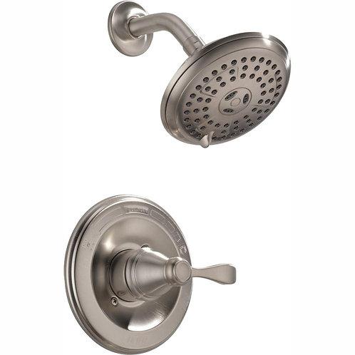 Single-Handle 3-Spray Shower Faucet in Brushed Nickel