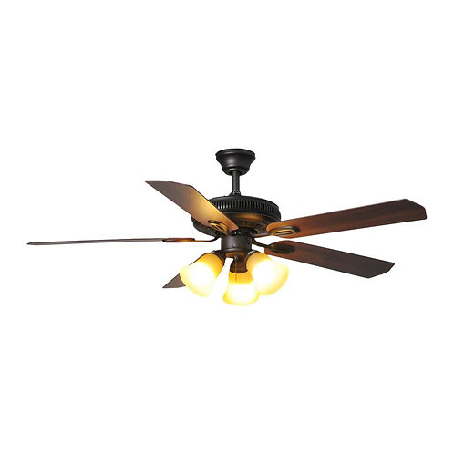 Glendale 52 in. LED Indoor Oil-Rubbed Bronze Ceiling Fan with Light
