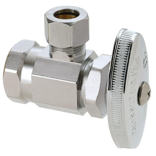 1/2 in. FIP Inlet x 3/8 in. O.D. Comp Outlet Multi Turn Angle Valve