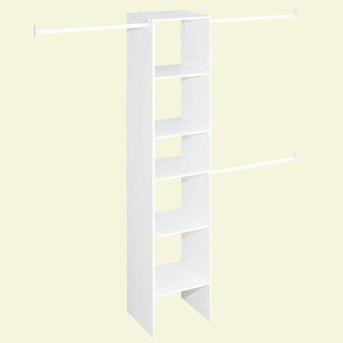 82.5 in. H x 16.9 in. W x 14.6 in. D Custom Laminate Closet System Organizer in
