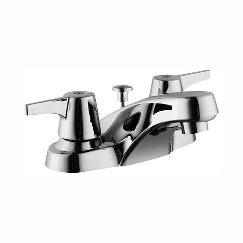 Glacier Bay Aragon 4 in. Centerset 2-Handle Low-Arc Bathroom Faucet with Pop-Up
