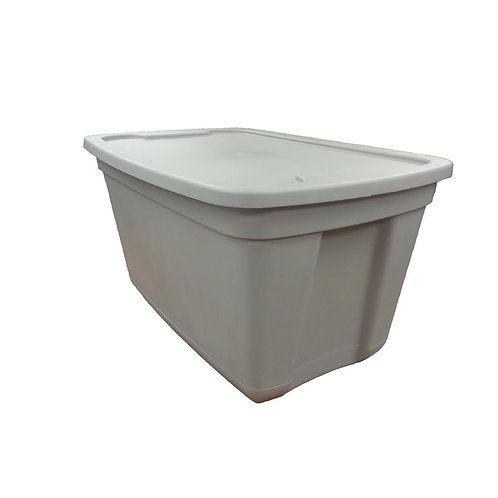 HDX 20 Gal. Storage Bin in Grey