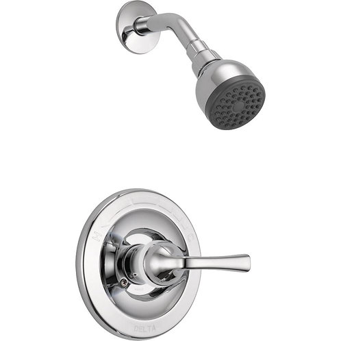 Delta Foundations Single-Handle 1-Spray Shower Faucet in Chrome (Valve Included)