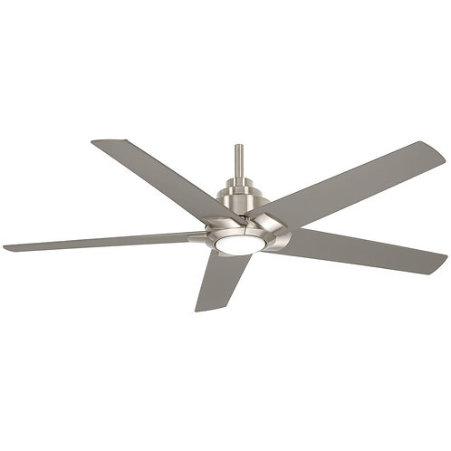 Mickelson 52 in. Integrated LED Indoor Brushed Nickel Dual Mount Ceiling Fan wit