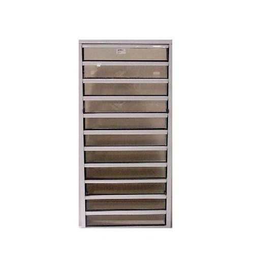 24 in. x 54 in. Master Guard Security Louver Awning Aluminum Window in White