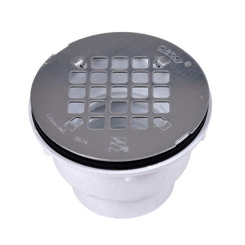Oatey PVC Shower Drain with Round 4-1/4 in. Stainless Steel Strainer